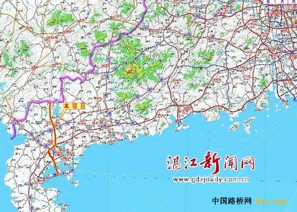 """""""玉湛高速""""湛江段将直通东海岛 与""""东雷高速""""衔接"""