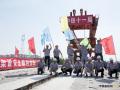 山东:济青高速铁路淄博特大桥架梁全部完成