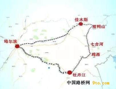 图5,牡佳客专将与在建的哈佳客专,哈牡客专构筑黑龙江省东部铁路环线