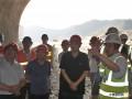 湖北省交通运输厅建设处处长陈飙到十堰快速路项目检查工作