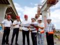 浙江省轨道交通建设与管理协会会长赵彦年调研中铁十一局集团金台铁路项目