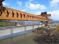 浙江:228国道项目旗门港特大桥首片40米T梁成功架设