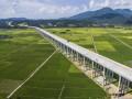 福建:顺邵高速项目河坊特大桥桥面铺装全部完成