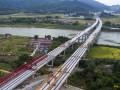 """福建:顺邵高速项目两座""""卡脖子""""跨铁大桥顺利贯通"""