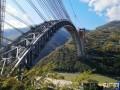 云南:怒江四线特大桥钢桁拱合龙 为世界最大跨度铁路拱桥