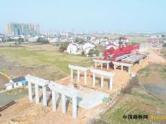 湖南:G536汨罗段跨京广铁路桥开始架梁