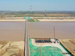山东:齐鲁黄河大桥多个桥梁桩基已浇筑成形