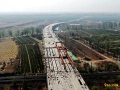 北京:天北路北延一期工程跨大秦铁路桥顺利吊装合拢
