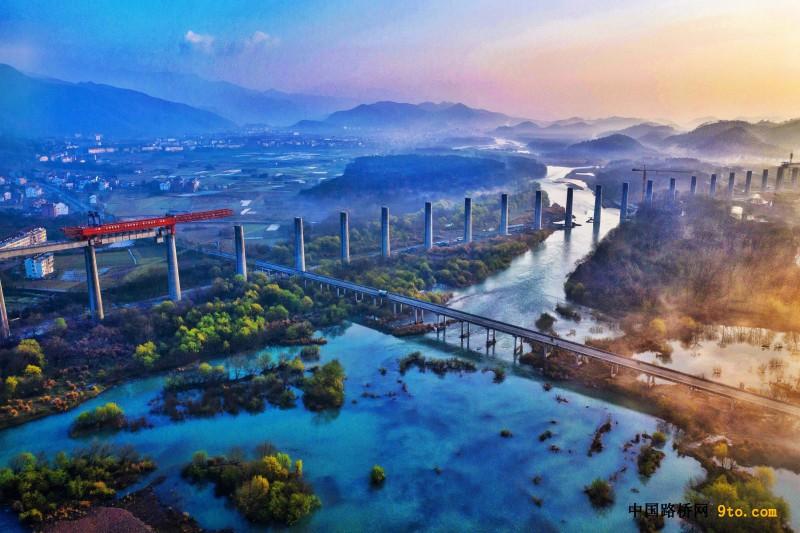 行进中的桥梁:金台铁路永安溪特大桥