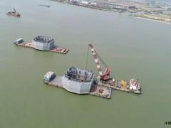 广东:深中通道中山大桥完成钢吊箱下放,顺利转入承台施工阶段