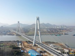 安徽:巢湖大桥12日建成通车:大桥全长2149米 合同价为6.52亿元
